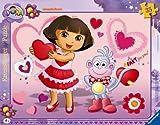 Ravensburger 06611 - Puzzle con marco, diseño de Dora la exploradora con corazones (30-48 piezas)