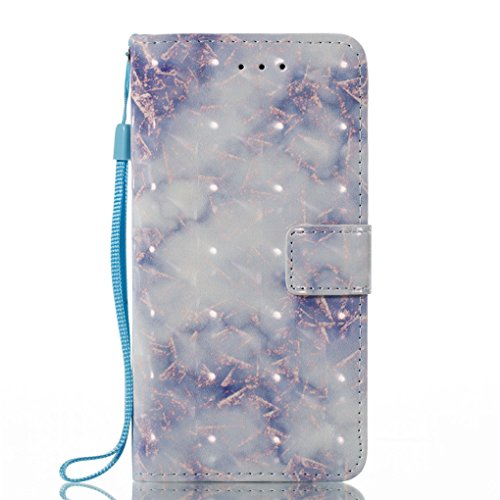 Apple iPhone X Hülle, SATURCASE Einzigartig 3D Stein Muster PU Lederhülle Ledertasche Magnetverschluss Flip Cover Brieftasche Case Handy Tasche Schutzhülle Handyhülle Hülle mit Standfunktion Kartenfäc Muster-6