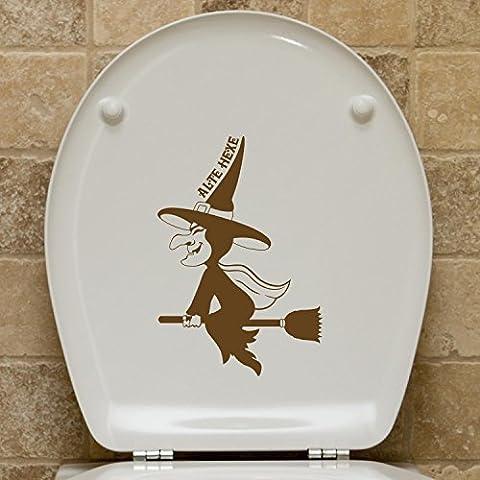 Coperchio WC–Adesivo Vecchia Strega, Fawn Brown, 17 x 25 cm