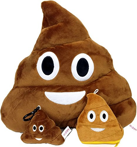 global-classifiche-poop-emoji-cuscino-con-catena-portachiavi-morbido-denaro-borsetta-poop