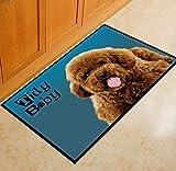 Zlywj Tapis Souris Salon Bain Style Moderne Anti-Slip Lovely Carpets Pet Dog Print Tapis Salle De Bains Plancher De Cuisine Tapis Animal Front Intérieur Porte D'Entrée Tapis 60X90Cm Couleur1