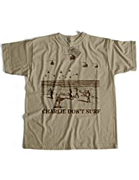 Inspired by Apocalypse Now T Shirt by Old Skool Hooligans- Charlie Don't Surf