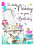 Happy Birthday Grußkarte für Nanny Hallmark Vers Traditionelle Damen Classy