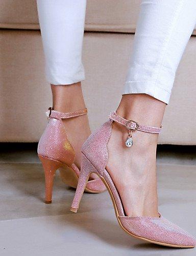 WSS 2016 Chaussures Femme-Mariage / Habillé / Soirée & Evénement-Rose / Argent / 1#-Talon Aiguille-Talons / D'Orsay & Deux Pièces / Bout Pointu- 1#-us5.5 / eu36 / uk3.5 / cn35
