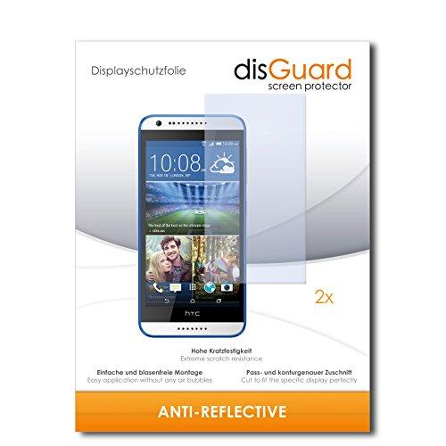disGuard® Displayschutzfolie [Anti-Reflex] kompatibel mit HTC Desire 620G Dual Sim [2 Stück] Entspiegelnd, Matt, Antireflektierend, Extrem Kratzfest, Anti-Fingerabdruck - Panzerglas Folie, Schutzfolie