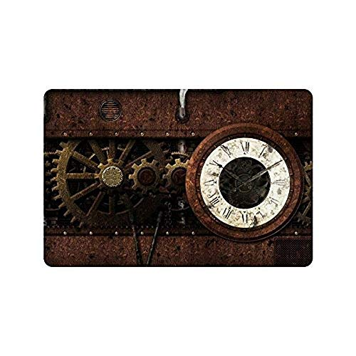 Maryland Grill Pad (Miedhki Door Mats Non-Slip Rechteckig Funny Amazing Gear Steampunk Vintage Mechanism Design Indoor and Outdoor Entrance Floor Mat Gate Pad Cover Fußmatte - 23.6 x 15.7 Inch)