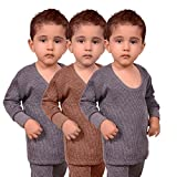 #6: Red Fort Thermal Top Grey and Brown Color for Boys and Girls - Pack of 3