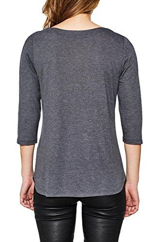 ESPRIT Collection T-Shirt à Manches Longues Femme Gris (Gunmetal 5 019)