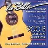 CUERDAS GUITARRA CLASICA - La Bella (900/B) Negra Golden Superior (Juego Completo)