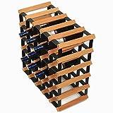 Weinregale 30 Flaschen-stapelbarer Hölzerner Flaschen-Halter-Speicher Freie Stellung für Küche, Stab, Weinkeller, Keller, Kabinett, Pantry, Countertop (Farbe : Holzfarbe)