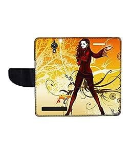 KolorEdge Printed Flip Cover For Asus Zenfone C Multicolor - (47KeMLogo09990ZenC)