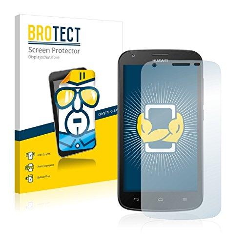 2X BROTECT HD Clear Bildschirmschutz Schutzfolie für Huawei Ascend Y600 (kristallklar, extrem Kratzfest, schmutzabweisend)