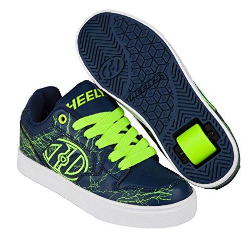 Heelys Motion Plus, Sneakers basses garçon Bleu (Navy / Bright Yellow / Electricity)