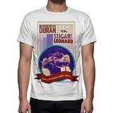 Photo de Palalula Homme Boxe Fight Roberto Duran vs Sugar Ray Leonard T-Shirt par Palalula