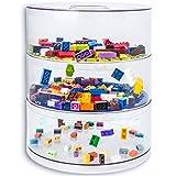 Boîte de rangement BLOKPOD jouets & Legos  Solution de stockage empilable multi-usage  Grande capacité: 16 litres  Boîte transparente  GARANTIE 15 ANS  3 niveaux