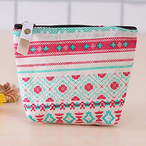 Floral Purse Bag (brandyjacksonq Forest Theme Wallet Key Storage Bag Coin Purse Desktop Decoration(Small Floral))