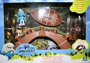 Giochi Preziosi 29101 set puffi - villaggio con ponte, barca e personaggio