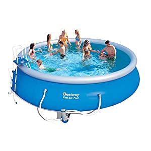 Bestway fast set pool with pump sports for Best way piscine
