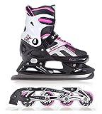 Raven 2in1 Schlittschuhe Inline Skates Inliner Pulse Black/Pink verstellbar Größe: 40-43