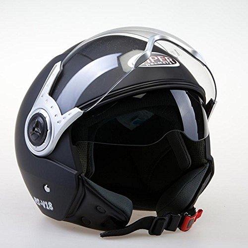 Viper Roller (Motorradhelm VIPER RS-V18 Motocross Jet Roller Helm Matt Schwarz (M))