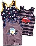 Vaenait baby Jungen Boys Unterhemd 3-Packung Top Undershirts Set Siren M