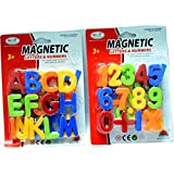 Abee Magnetic Board Alphabets And Numbers Fridge Magents - Multi Color