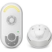 Motorola MBP 140 - Baby monitor audio digitale con unità bambino plug-n-go e piccola unità genitore portatile, modo eco e luce notturna, bianco
