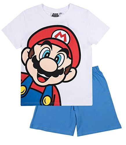 Super Mario Bros Ragazzi Pigiama maniche corte - bianco - 116