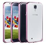 ACM Aluminum Metal Bumper for Samsung S4 I9500 Mobile Screwless Frame Case Cover- Light Pink