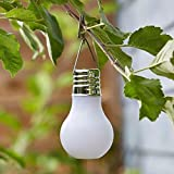 PACK OF 4 Lovely 12cm COLOUR CHANGING Frosted Plastic SOLAR Garden LIGHTBULB Decorations