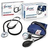 AIESI Sfigmomanometro Manuale Professionale ad Aneroide modello classico per adulti con stetoscopio DOCTOR PRECISION ✔ Misuratore di pressione meccanico con fonendoscopio