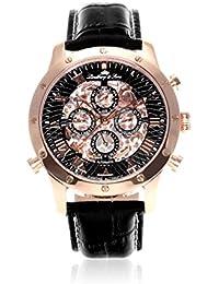 Lindberg & Sons Herren-reloj analógico de pulsera automático de cuero SK14H004