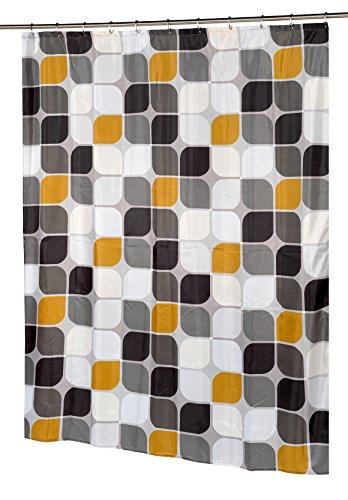 Carnation Home Fashions Metro Stoff Wasserabweisend Duschvorhang, Polyester, multi, 54-Inch by 78-Inch