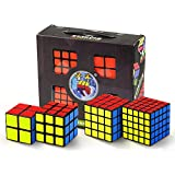 ZMH 4Pcs / Set Puzzle Cube 2X2x2, 3X3x3, 4X4x4, 5X5x5 Professional Speed Learning & Educational Puzzle Cube Magic Toys