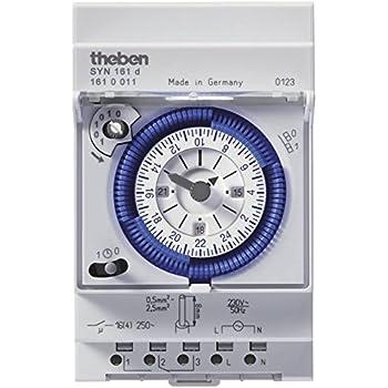 Gris Vemer vp882500/Interrupteur horaire /électrom/écanique arvo-d journalier de Barre dIN