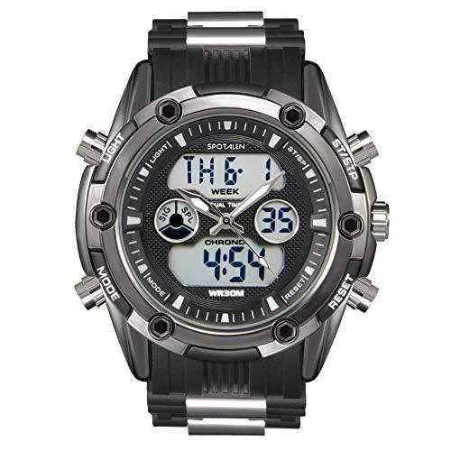 Herren-Sportuhr Analog-Digital wasserdichte Uhren für Mann Military Chronograph Stoppuhr Classic Silikonband