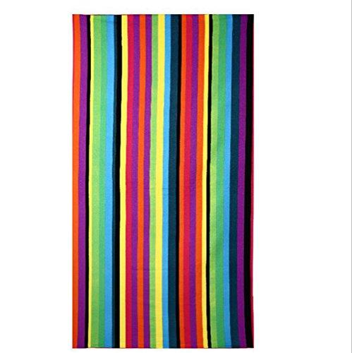 CHENGJIUWEILAI Strand/Badetuch Oversize Super Saugfähigen Mikrofaser Handtuch Baden Schwimmen Beach Chair Cover Farbe Streifen Drucken