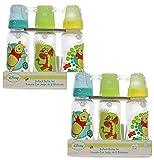 Disney Baby Winnie The Pooh 6 Pack 9oz Bottle Set 0+ Months Medium Flow