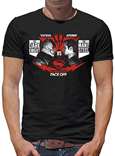 TLM Batman v Superman - The Ultimate Face Off T-Shirt Herren S Schwarz (Ultimate Captain America Kostüm)