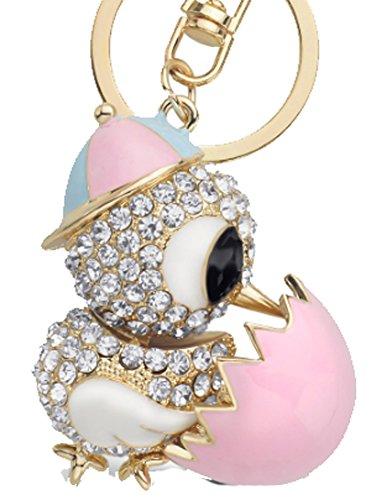 SaySure - Pretty Cock Duck Chicken Egg Crystal Key (Medusa Hängen Prop)