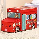 COCHE de juguete de los niños taburetes helado caja de almacenaje plegable, rojo, 57*32*19cm