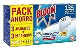 Bloom Eléctrico Líquido Contra Mosquitos Común y Tigre - 3 Aparatos + 3...