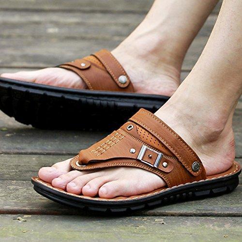 @Sandals Sommer Herren, Legere Schuhe, Rutschfeste Und Wearable Koreanische Hausschuhe, 38, Braune - Wrestling Schönes Schuhe
