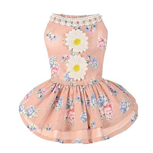 Yezijiang Pet Kleid für kleine Hunde Sun Flower Tutu Rock Kleidung (Für Sun-kleid Hunde)