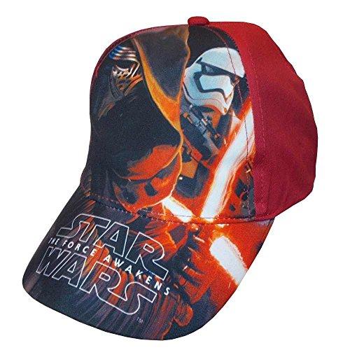 Star wars episodio vii -kylo ren e stormtrooper cappello visiera bambino-ragazzo ep4399 (rosso, 52)