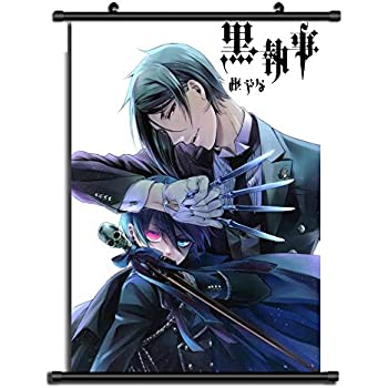 Kakemono Rollbild Wallscroll Black Butler Sebastian Wandbanner Stoff Poster Wandbild Kuroshitsuji Anime Manga