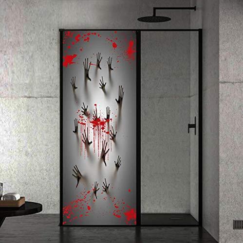 Wandtattoo Halloween Spukhaus Dekor Fenster Tür Cover Aufkleber Zombie Hand 78X30 Zoll Wand Dekor