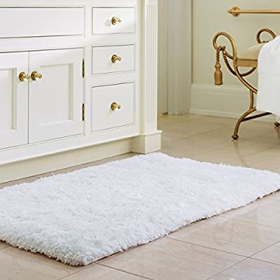 Norcho Soft Microfiber Non-slip Rubber Luxury Area Rug for Livingroom Bedroom Bathroom Decor Machine Washable - inexpensive UK light shop.