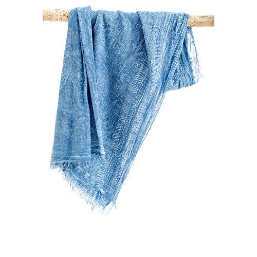 Japanwelt Cottonschal 100% Baumwolle 100 x 180 cm Denim -