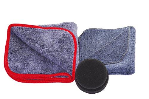 glart 44TPP6 premium polishing kit, 3-piece. Polishing cloth 40 x 40 cm, polishing sponge, drying cloth